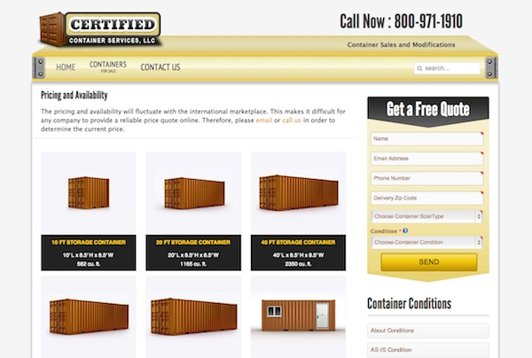 Hesperia Website Design - Certified Container Services